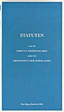 Statuten voor de Orde van Vrijmetselaren…