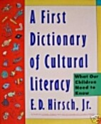 A First Dictionary of Cultural Literacy by…