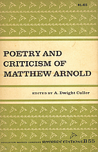 Poetry and Criticism of Matthew Arnold by…