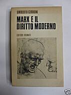 Marx e il diritto moderno by Umberto Cerroni