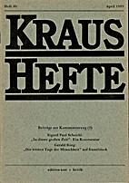 Kraus-Hefte 50 (1989)