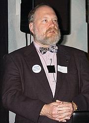 Author photo. Gene Spafford talks about computer security at <a href=&quot;http://LinuxForum.dk/2000/&quot; rel=&quot;nofollow&quot; target=&quot;_top&quot;>http://LinuxForum.dk/2000/</a> in Copenhagen, Denmark. Photographer: Hans Schou
