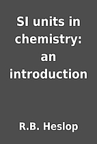 SI units in chemistry: an introduction by…