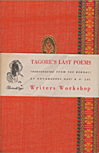 Tagore's Last Poems by Rabindranath Tagore