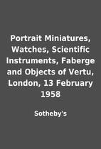 Portrait Miniatures, Watches, Scientific…