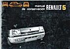 Renault 5. Manual de conservación.