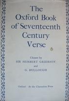 The Oxford Book of Seventeenth Century Verse…