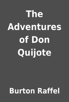 The Adventures of Don Quijote by Burton…