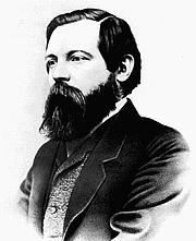 Author photo. Friedrich Engels (1820-1895) 1856 photograph