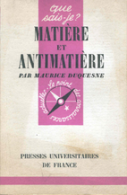 Matter and Antimatter by Maurice Duquesne