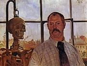 Author photo. Self-portrait, 1896, <br>Städtische Galerie im Lenbachhaus, Munich, Germany<br> (Yorck Project)