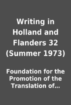 Writing in Holland and Flanders 32 (Summer…