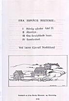 I. Høvåg-gårde (del 2) Ii. Åkerøya.…