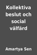 Kollektiva beslut och social…