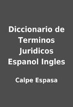 Diccionario de Terminos Juridicos Espanol…