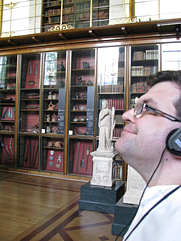 Author photo. At the Enlightenment Hall, the rootstock of modern librarianship.