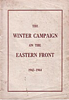 The Winter Campaign on the Eastern Front…