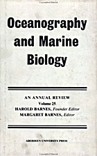 Oceanography and Marine Biology: An Annual…