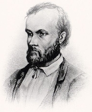 Author photo. wikimedia commons - Earliest known image of Aleksis Kivi. Drawn in 1873 almost certainly by Albert Edelfelt (1854–1905).