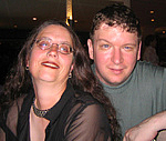 Author photo. Donna Barr with Ron Hogan <br>at San Diego Comic Con 2006<br>Copyright © 2006 <a href=&quot;http://ronhogan.tumblr.com&quot;>Ron Hogan</a>