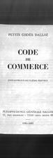 Petits codes Dalloz. Code de commerce