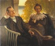 Author photo. Per Hallström and his wife Helga. Richard Bergh, 1904.