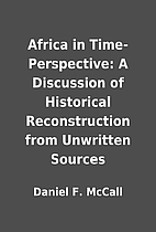 Africa in Time-Perspective: A Discussion of…