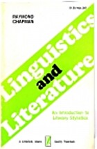 Linguistics and Literature: An Introduction…