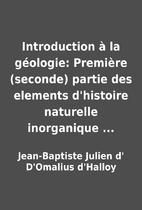 Introduction à la géologie: Première…