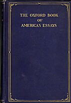 The Oxford Book of American Essays by…