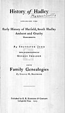 History of Hadley by Sylvester Judd