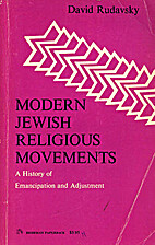 Modern Jewish religious movements: A history…