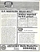 Gay West (Issue Number One) Males Married…