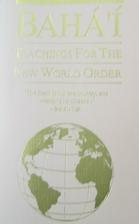 Bahai teachings for the new world order