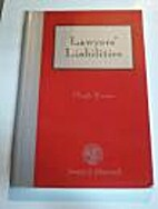 Lawyer's Liability by H. Evans