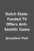 Dutch State-Funded TV Offers Anti-Semitic…