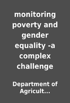 monitoring poverty and gender equality -a…