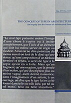 The concept of type in architecture by…