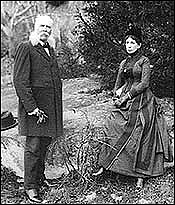 Author photo. Bachelder with his wife at Gettysburg (1890)