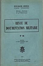Revue de documentation militaire n°66, 1er…