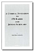 A Cordial Invitation to 170 Rabbis and…