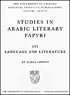 Studies in Arabic Literary Papyri III:…