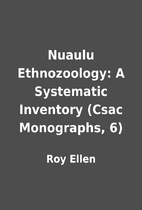 Nuaulu Ethnozoology: A Systematic Inventory…