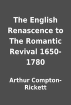 The English Renascence to The Romantic…