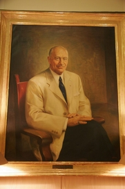 Author photo. Portrait of Conrad Hilton.  Photo by Randal L. Schwartz  / Flickr.