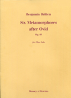 Six Metamorphoses after Ovid. Op. 49. For…