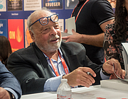 """Author photo. Nelson DeMille at BookExpo at the Javits Center in New York City, May 2019. By Rhododendrites - Own work, CC BY-SA 4.0, <a href=""""https://commons.wikimedia.org/w/index.php?curid=79387588"""" rel=""""nofollow"""" target=""""_top"""">https://commons.wikimedia.org/w/index.php?curid=79387588</a>"""