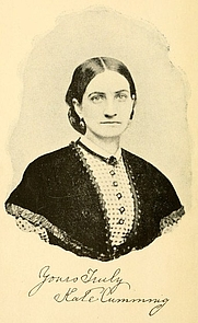Author photo. Image from <b><i>Gleanings from Southland</i></b> (1895) by Kate Cumming