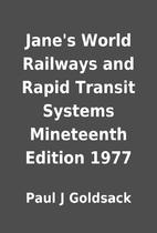 Jane's World Railways and Rapid Transit…
