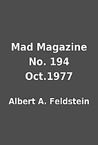 Mad Magazine No. 194 Oct.1977 by Albert A.…